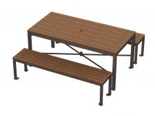 MNTP-6-WI  with Monona 6 ft flat bench (seats sold separately)