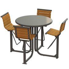 Gramercy Courtyard Bar Height Table