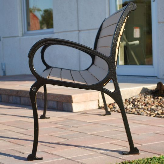 Awesome Cunningham Bench Intermediate Armrest E Steele Creativecarmelina Interior Chair Design Creativecarmelinacom