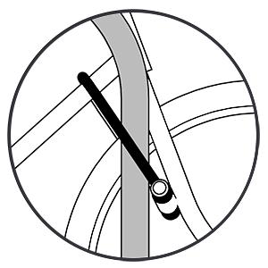 Bike Lock Secured to Frame of Bicycle and Bike Rack