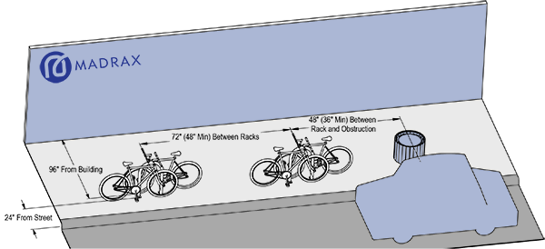 Bike Rack Layout Parallel to Curb