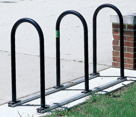 Bike Rack on Rails