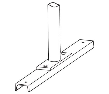 Drawing of Bike Rack on Rails