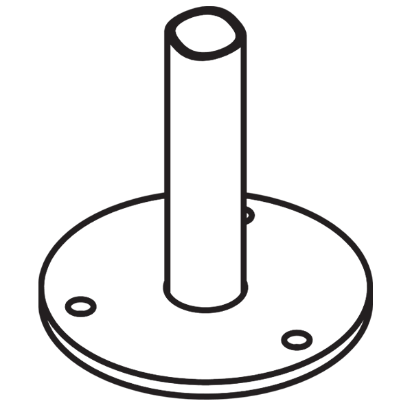 Drawing of a Bike Rack Surface Mount
