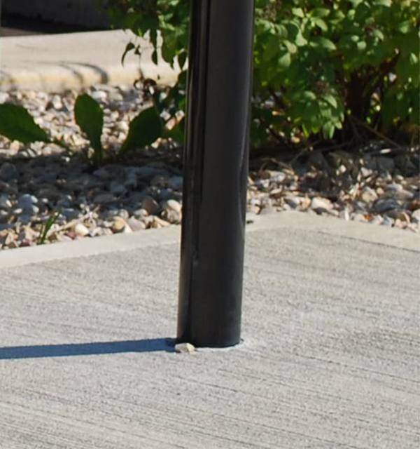 Image of a Bike Rack Installed with an In-ground Mount