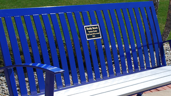 Memorial Bench with Plaque