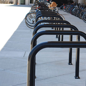 nverted u bicycle racks