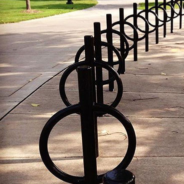 post and ring bike rack