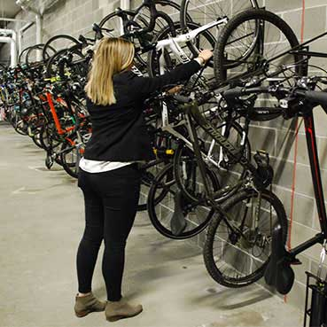vertical bicycle racks